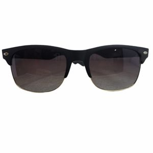 New black sunglasses with gold detail